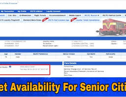 Senior Citizen Quota And Senior Citizen Concession In Indian