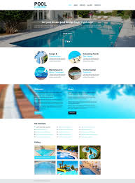 Pool Cleaning Responsive Website Template 51403