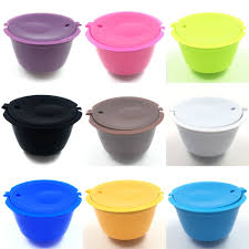 coffee filter capsule plastic cup refillable reusable compatible with nescafe dolce gusto kitchen gadgets