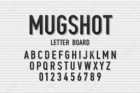 Police Mugshot Letter Board Style Font Changeable Alphabet Letters