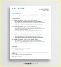 Microsoft Office Word Resume Templates Free Template