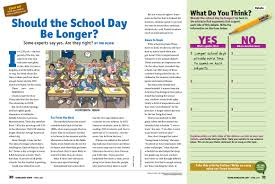 debate deeper scope ideabook guiding question how could this information be used to strengthen the argument that the school day should not be extended