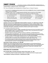 Substitute Teacher Resume Mesmerizing Sample Teacher Resumes Substitute Teacher Resume Sample Teacher