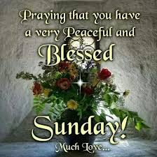 Have A Blessed Sunday And A Peaceful One May You And Your Family Adorable Powerful Sunday Msg For Him