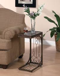 AmazonSmile Coaster Snack Table with Burnished Copper