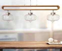 Moderne Anhänger Hängende Lampe Küche Insel Licht Metall Hängende Lampe Stilvolle Holz Neu