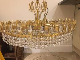 classic crystal chandeliers x 2