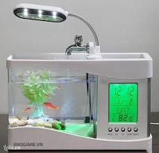 Bể Cá Phong Thủy Mini Có Đèn Led