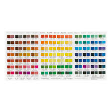 Blockx Oil Paint Printed Colour Chart Jacksons Art Supplies