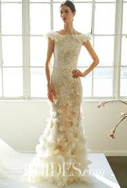 form fitting lace wedding dresses. *fit-and-flare corded lace wedding gown with 3d silk organza rose tulle form fitting dresses