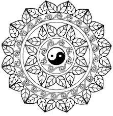 Mandala Con El Free Printable Online Yin Yang Coloring Pages Chinese