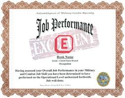 Military Job Performance Display Recognition