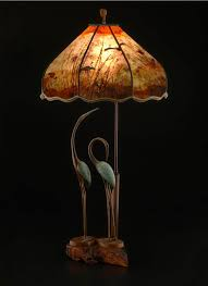 t304 two cranes forever bird table lamp