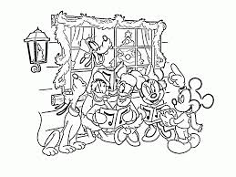 Disney Christmas Coloring Pages For Kids Printable Coloring Page