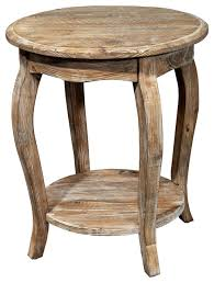 wilson rustic reclaimed wood round end table driftwood