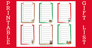 Printable Christmas Gift List Template Free Printable Christmas Shopping List