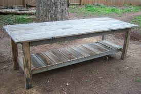 Home Made Kitchen Table Farmhouse Tables Excellent Kitchen Table Back In The Garage And