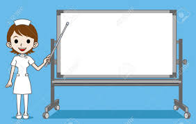 classroom whiteboard clipart. the nurse who explains with whiteboard royalty free cliparts classroom clipart