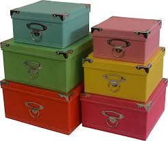 Decorative Storage Box Sets Amazon Decorative Storage boxes in pastel colors nested 53