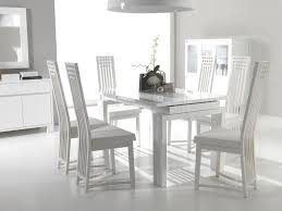 white dining room chair. Magnificent White Glossy Dining Table With Utensils Cabinet For Furniture Room Design Ideas Chair
