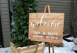 handmade welcome sign