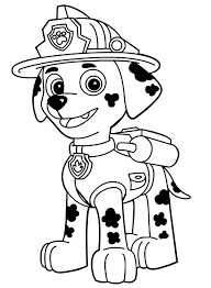 Kids Coloring Pages Paw Patrol At Getdrawingscom Free For