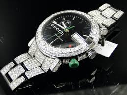 fully iced out mens diamond gucci ya101331 watch 17 ct click to see supersized image