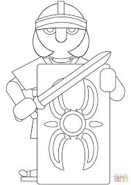 Coloring Picture Of Roman Soldier Printable Images Soldiers