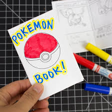 Printable Pokemon Cards Mini Printable Pokemon Booklets From 1 Sheet Of Paper