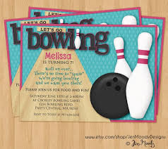 Bowling Invitation Custom Bowling Birthday Party Invite Bowl Invitation Printable Etsy