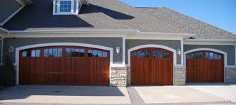 overhead door custom wood collection pictured above accent with color