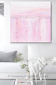 pink white and grey wall art