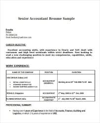Accountant Resume Template Resume And Cover Letter Resume And