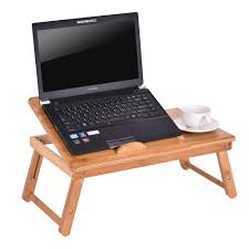 bamboo folding laptop computer notebook table bed desk bed tray stand adjule