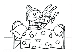 Kleurplaat Pompom En Knuffel Thema Knuffels Hug Pajama Party