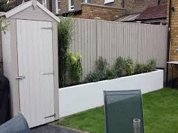 garden fence paint back garden design