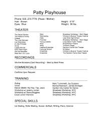 Actor Resume Builder Acting Child Template No Experience Free Resume