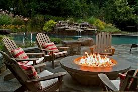 Contemporary Patio Ideas With Gas Fire Pit Set Fresh Umbrella For Backyard To Perfect