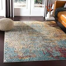 bohemian orange blue accent rug the freshness rugs in color a kitchen blue accent rug