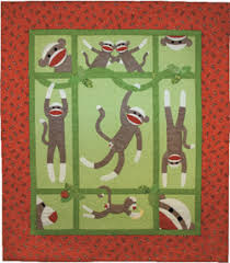 Full Size Sock Monkey Quilt pattern book - other items / sizes in ... & Full Size Sock Monkey Quilt pattern book - other items / sizes in book. Adamdwight.com