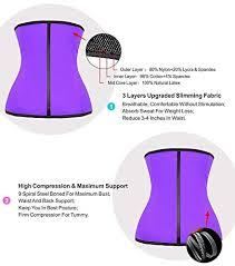 Yianna Waist Trainer Size Chart Yianna Womens Underbust Latex Sport Girdle Waist Trainer Corset Hourglass Body Shaper