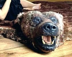 bear skin rug faux bear skin rug faux bear skin rug with head black bear skin