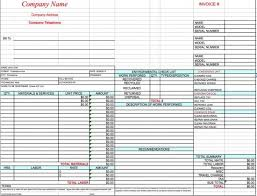 Contractors Invoice Template Unique Free HVAC Invoice Template Excel PDF Word Doc