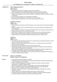 Scaffolding Resume Example Best of Foreman Resume Samples Velvet Jobs