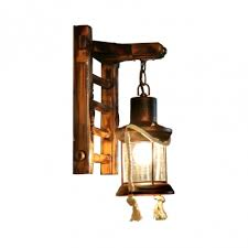 light antique hanging wall sconce