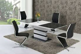 dining tables extending black glass dining table and 6 chairs set large white gloss bl