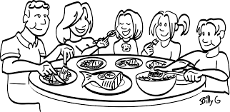 table clipart black and white. thanksgiving dinner table clipart black and white 57243