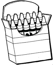 crayola crayon box coloring page template printable logo