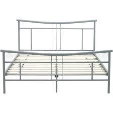 Chelsea Metal Full Size Platform Bed Frame in Matte Nickel HBEDCHEL FL
