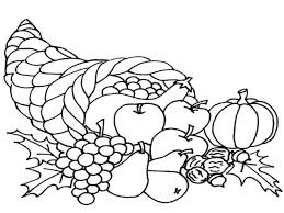 Expert Cornucopia Coloring Pages To Print Cele 12354 Unknown